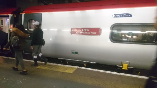 Virgin Pendelino train named X-Men: Days of Future Past